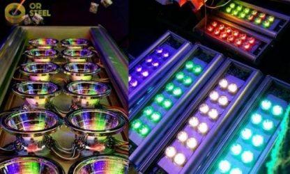 Voici un exemple de séance test sur nos projecteurs Modulo RGBW lors des mises en lumière
