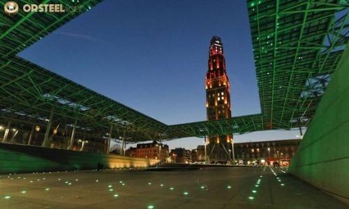 Découvrez l'une de nos mises en lumière : la gare d'Amiens lors de la Saint-Patrick