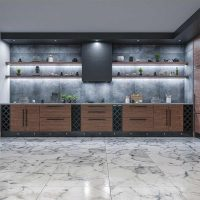 NANOLIGHT embedded projector kitchen