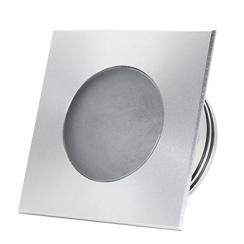 gaia square aluminium embeddable led spot