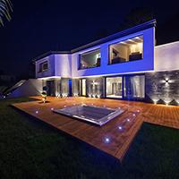 Villa Privative architecte avec eclairage led tchitchou