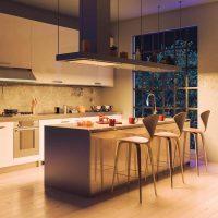 Projecteur encastré plafond ORION pour architecte, exemple cuisine