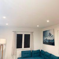 Projecteur encastré pour architecte, exemple de plafond dans un salon