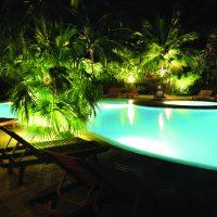 Blade moving head aquatic swimming pool spotlight