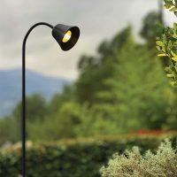 RINGO TULIPA black shaft mounted projector for outdoor lighting